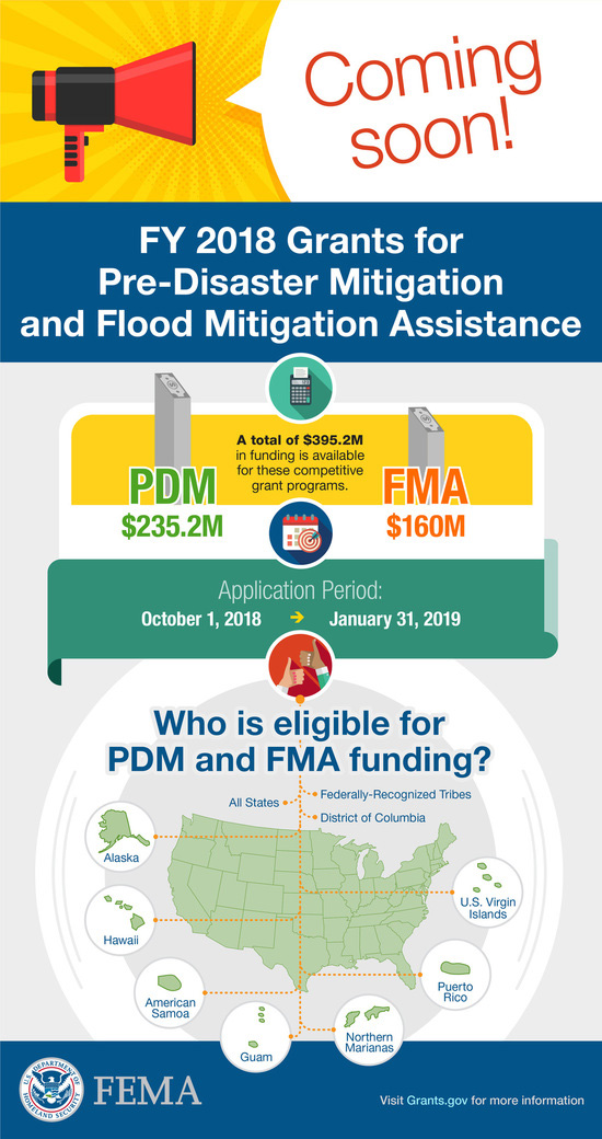 FY 2018 Grants for PDM and FMA